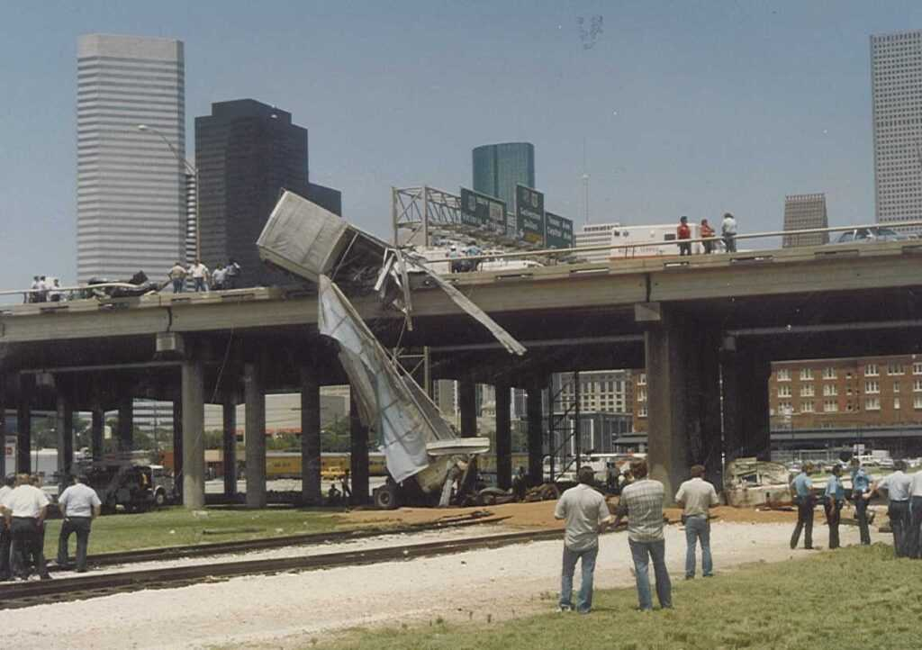 overpass trucking accident